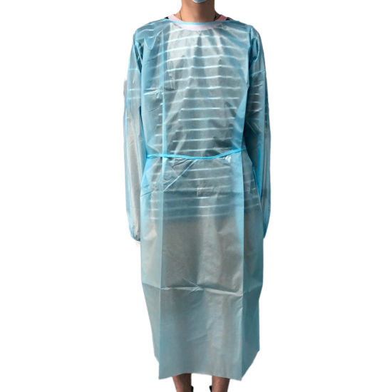 Disposable Waterproof AAMI Level 4 PP+PE Isolation Gowns Personal Gown