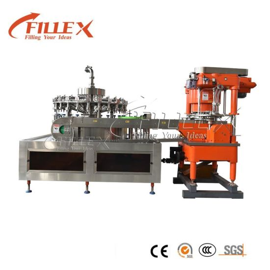 8000cph Liquid Aluminum Pop Can Automatic Filling Machine Production Line