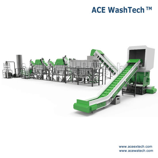Waste PE LDPE Plastic Film PP Jumbo Woven Bag Crushing Washing Line Recycling Machine pictures & photos
