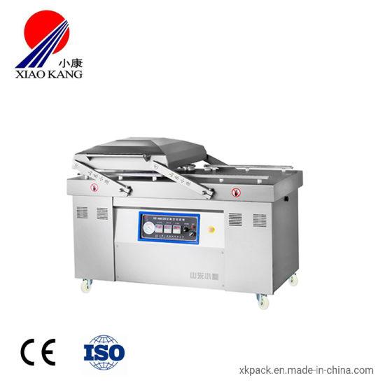 Cooked Meal Vacuum Sealing Machine Double Chamber Vacuum Sealer Machine
