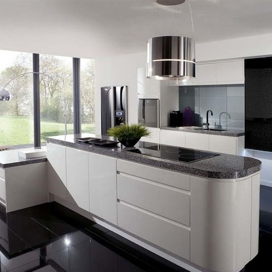 Prefab Artificial Marble High End Pre Assembled Kitchen Cabinets Options