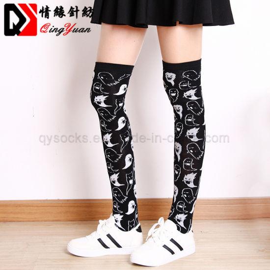 ed510af6c Colorful Fashion Sock Cute Kids Uniform Happy Dress School Knee High Socks