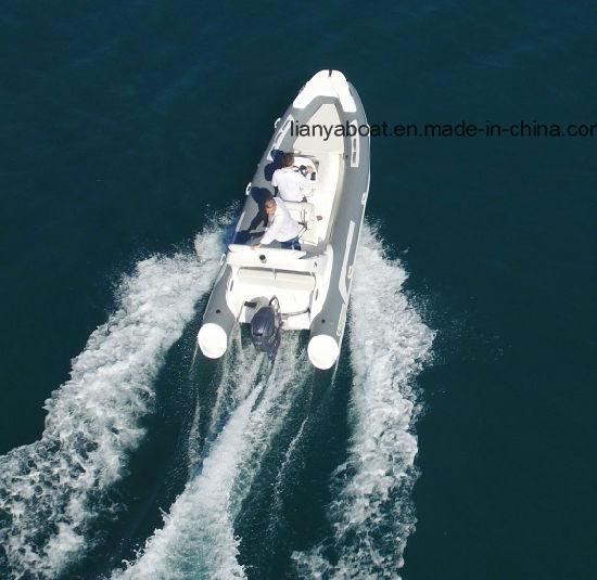 Liya 17feet Yachts for Sale Greece Fiberglass Rowing Boat 10men