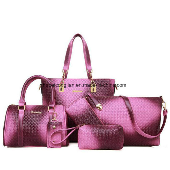 Practial Lady 6pcs Set Bags Purse Trend Latest Fashion Handbags