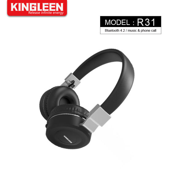 114f89cc9d0 Premium Rechargeable Wireless Headphone Bluetooth Over Ear Headphones  Foldable Headset with Mic pictures & photos