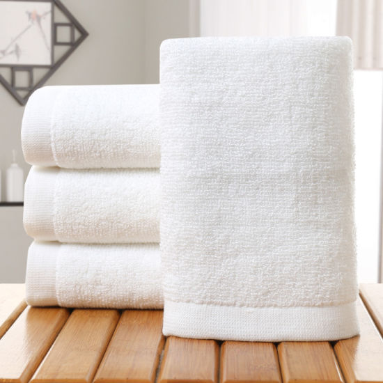 100% Cotton White Hotel Textile Bath Towel Hotel Towel China pictures & photos