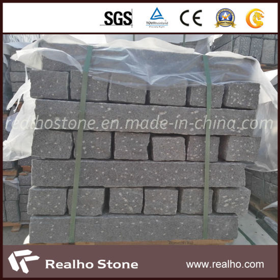 China Cheap Price Rough Picked Black Grey Granite Curb Stone for