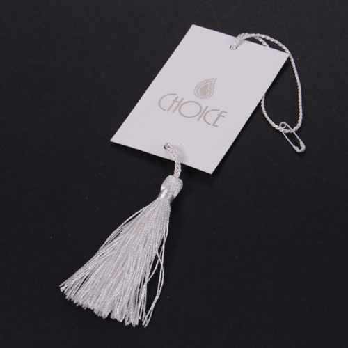 Sinicline Custom Logo Clothing Tag Tassel Paper Hang Tag with String pictures & photos