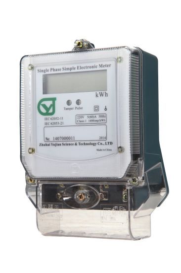 China Single Phase Simple Electronic Meter with International ...