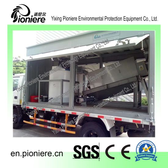 Mobile Container Sludge Dewatering System for Wwtp