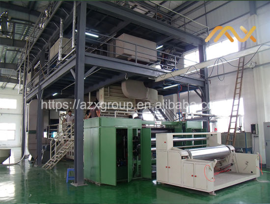 Meltblown Azx-1.6m Non-Woven Fabric Making Machine for Clothing Thermal Insulation Materials