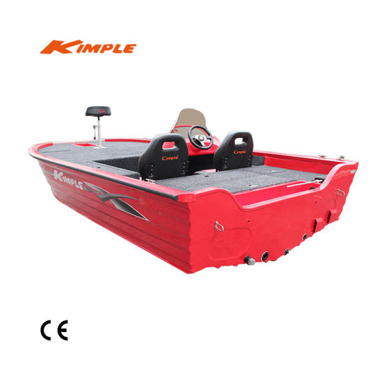 China Kimple Hunter 490X Bass Fishing Lure Aluminum Boat for