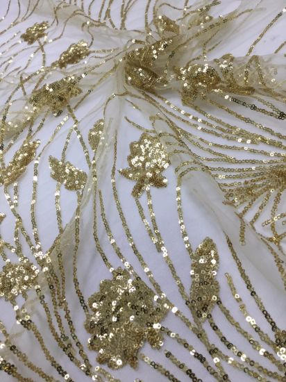 China Pure Sequins Embroidered with Shiny Lace Fabric for Women ... 2808f513b27e