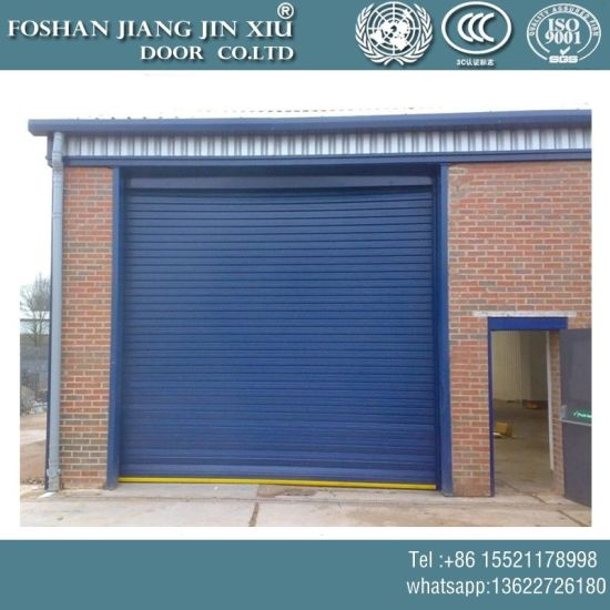 China Aluminum Silence Roller Shutter Garage Door With Motor China