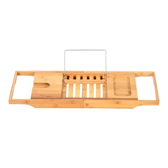 China Bathtub Rack Bamboo Shelf Shower Tub Book Reading Tray Holder ...