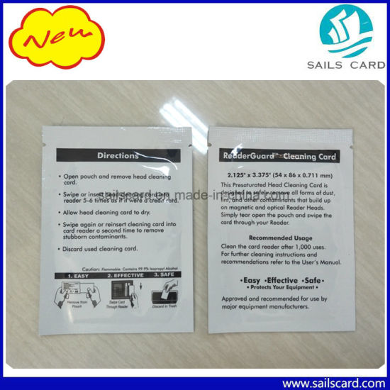 Printer ATM POS Machine Magnetic Head Cleaning Card with Aluminium Foil Bag Packing pictures & photos