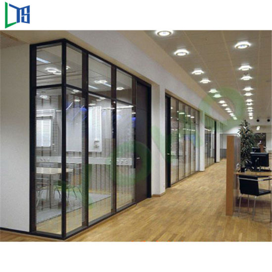 Shutter Office Glass Wall Partitions With Aluminum Alloy Frame