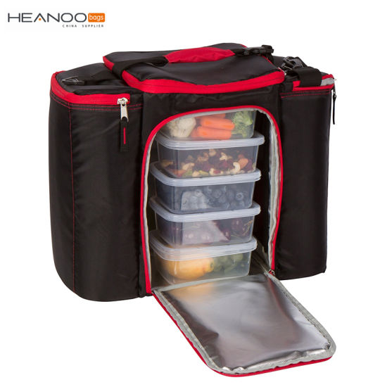 17 Inch Insulated Sunday Fitness Bodybuilding Lunch Meal Prep Bag With 5 Containers