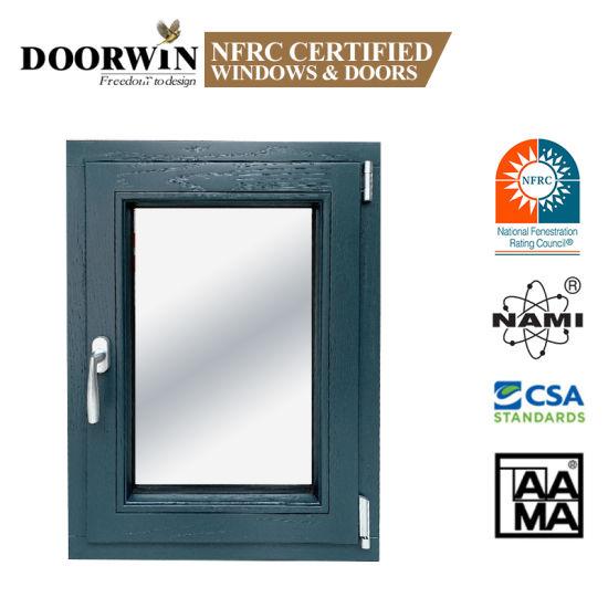 Nfrc China Manufacturer High Quality Aluminium Clad Grain Color Wood Tilt and Tune Casement Windows