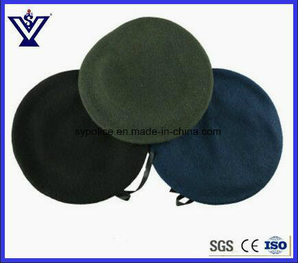 99489a80abd Custom Color Black Military Beret 100% Wool Army Beret Caps (SYSG-1820)