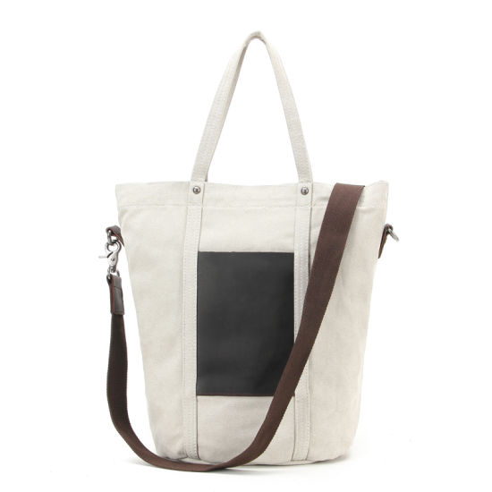 Redswan Women Canvas Shoulder Bag Travel Vintage Tote Handbag with Zipper Close (RSF-2045-1)