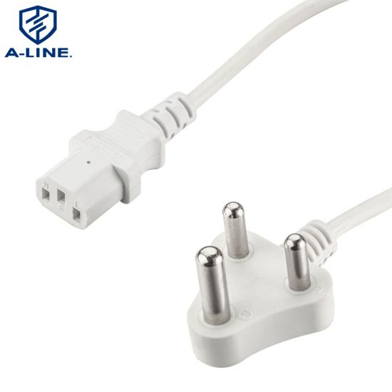 China South Africa Power Plug With C13 Connector China Power Cord Power Plug