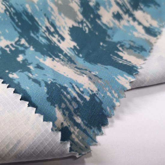 Chinese Factory 4 Way Stretch Waffle Fabric 87 Polyester 13 Spandex Fabric  Digital Printing Elastic Fabric
