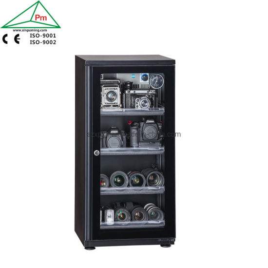 Camera Storage Digital Hygrometer Dry Cabinet 64L Providing Xeransis Environment