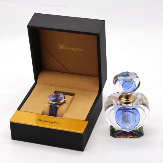 2020 Hot Fashion Wooden Packaging PU Leather Watch Gift Box