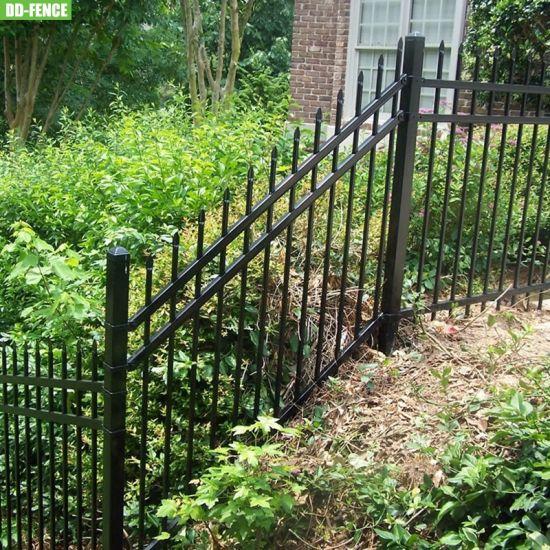 Rackable Steel Fence Panels Adjust to Sloping Yards