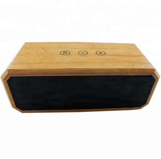 Wood Mini Wireless Portable Bluetooths Speakers with Touch Control
