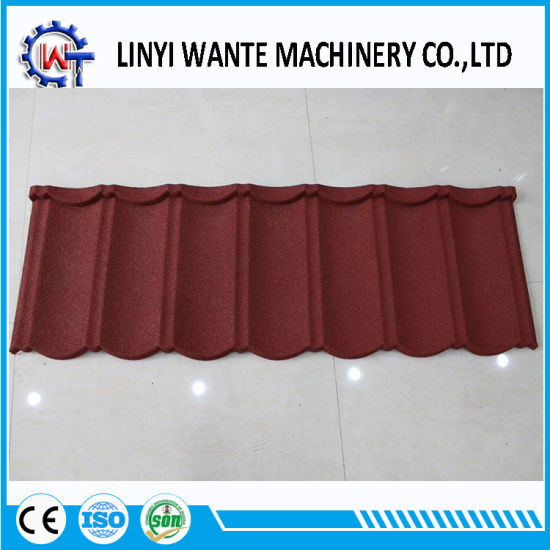China Lightweight And Cheap Stone Coated Steel Roofing Tile For