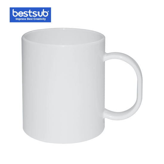 Sublimation Polymer White Coffee Mug Children Plastic Cups (BPM01)