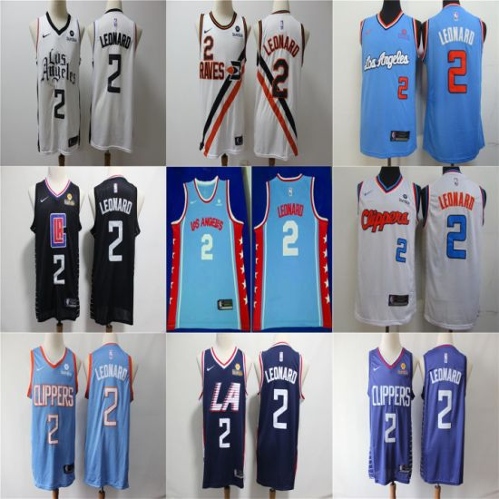 2020 City Edition Los Angeles Clippers Kawhi Leonard Basketball Jerseys