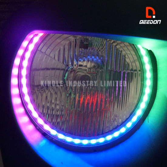 DC 12V Flexible Car DRL Blue LED Ambient footwell Light Strip illumination Lamp
