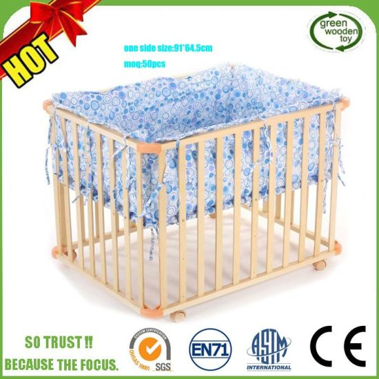 Foldable Baby Playpen Fence Pool Crib Rectangle Blue Red Lazada Ph