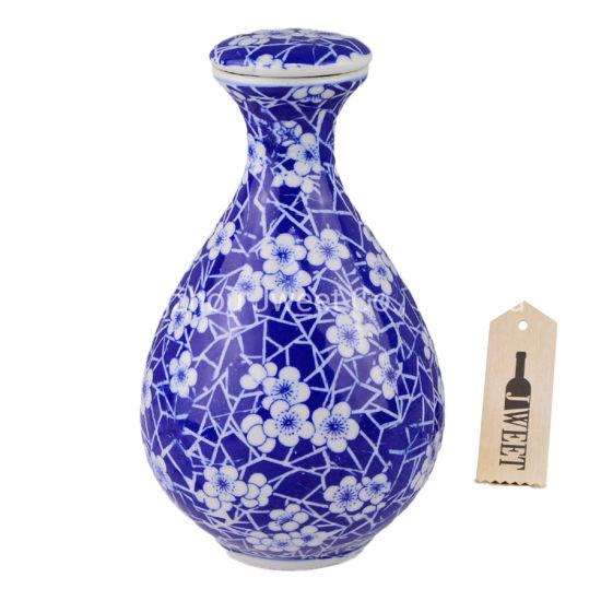 Handmade 500ml 750ml Ceramic Vase Shaped Gin Bottle