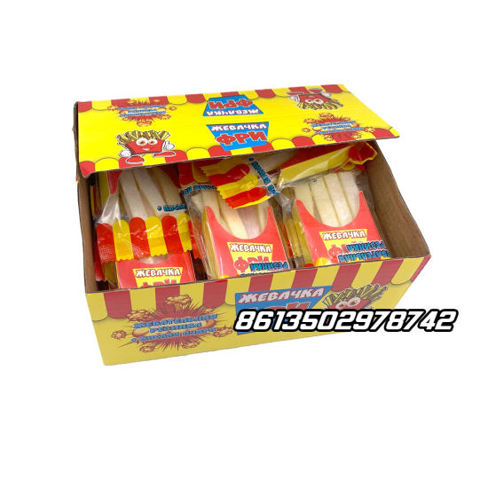 French Fries Bubble Chewing Gum