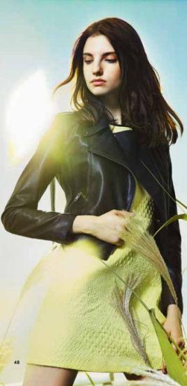 Wholesale Stock Chinese Designer Brand Women Wear Black Leather Jacket Coat