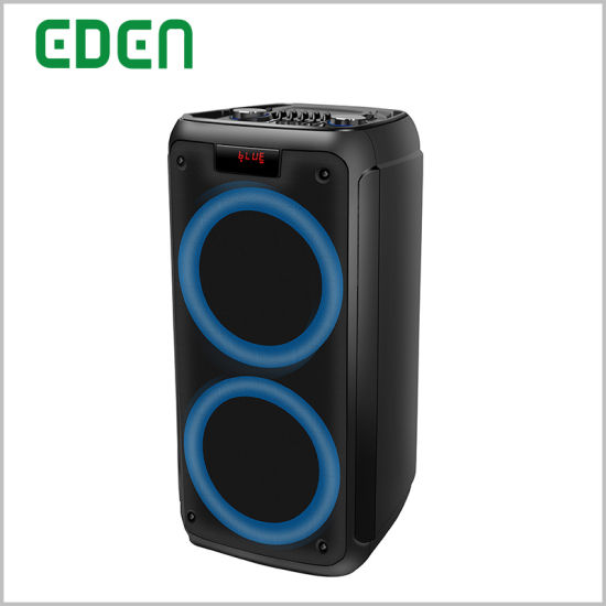2019 New Jbl Wireless Dual 8inch Portable Party Bluetooth DJ Private Speaker with Fashionable Disco LED Light