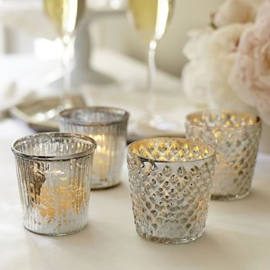 Manufacturers Custom Logo Glass Jars for Candle Making Tealight Glass Round Candle Holder Jar