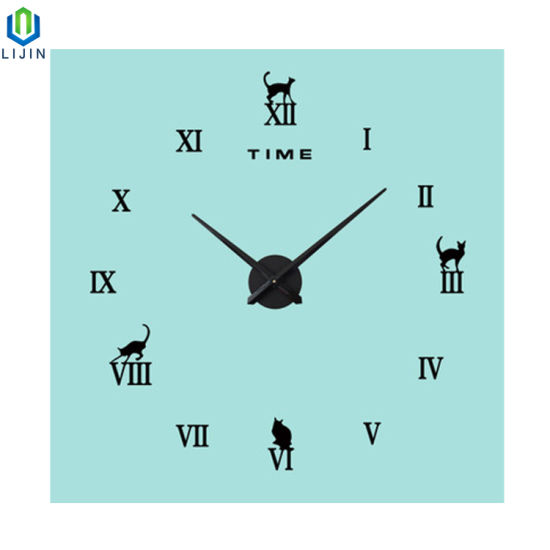 3D acrylic Mirror Face Wall Clock DIY Clock