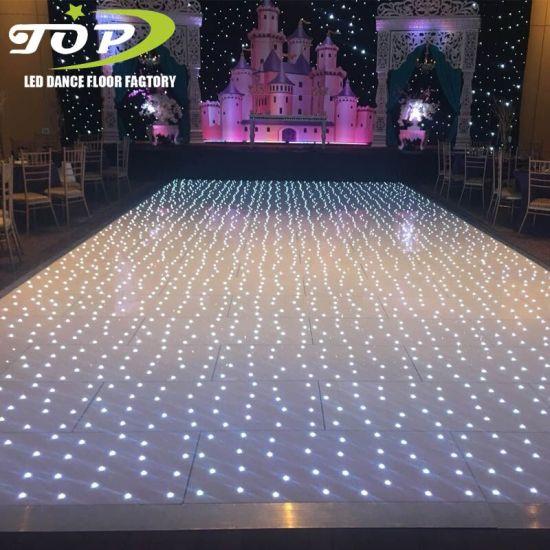 White Starlit Sparkling LED Dance Floor for Wedding Dancing Decoration