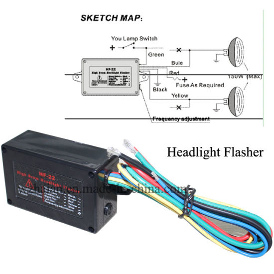 car high beam headlight flasher pictures & photos