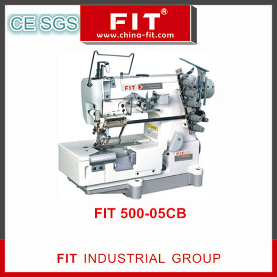 High Speed Interlock Elastic or Lace Attaching Machine with Right Hand Side Fabric Trimmer (500-05CB)