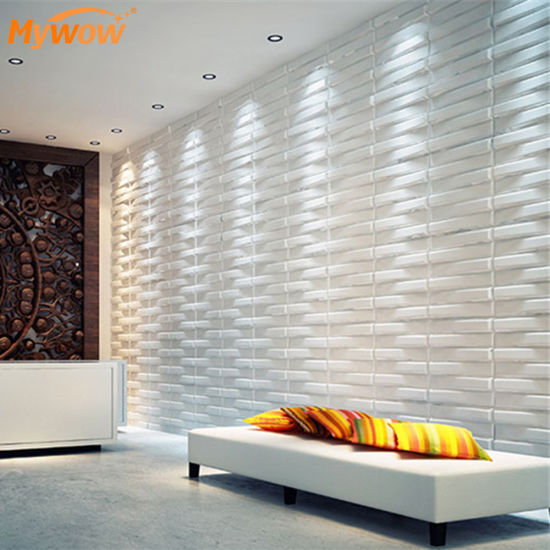 Fireproof and Waterproof 3D PVC Wall Panel Design