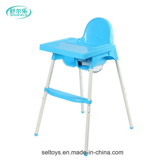 Plastic Adjustable Baby Dinner Feeding High Chair pictures & photos