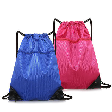 Custom Printing Logo Promotional Polyester Sport Backpack Eco Friendly Gym Drawstring Bags