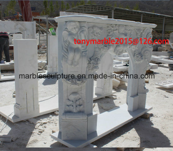 White Stone Sculpture Marble Fireplace (SY-MF004) pictures & photos