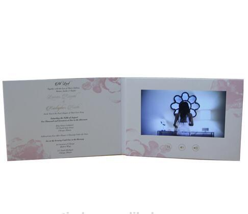 Custom LCD Screen Video Wedding Invitations Cards